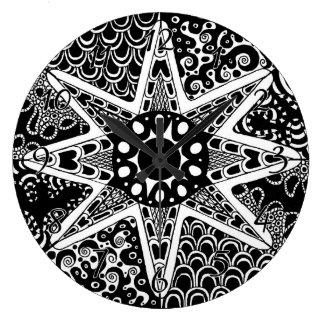 Estrella artsy reloj redondo grande