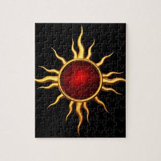 Estrella astral de la nueva edad: Sun de rubíes Puzzles Con Fotos