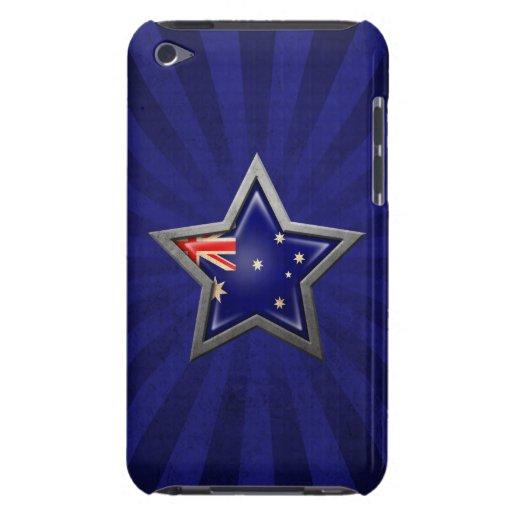 Estrella australiana de la bandera con los rayos d iPod Case-Mate funda