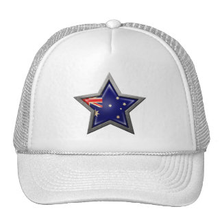 Estrella australiana de la bandera gorros
