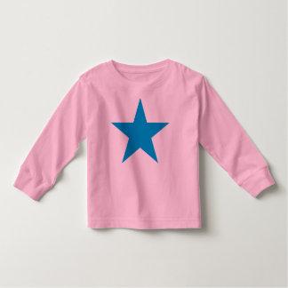 Estrella azul brillante poleras