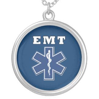 Estrella azul de EMT de la vida Colgante Redondo