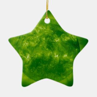 Estrella azul de la estrella verde adorno