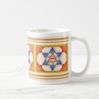 Estrella azul de la taza de David