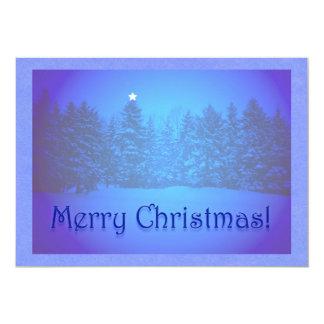"""Estrella azul de los pinos invitación 5"""" x 7"""""""