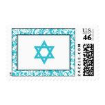 Estrella azul del damasco del remolino del trullo  franqueo