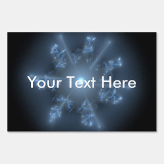 Estrella azul del fractal cartel