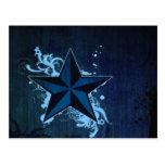 Estrella azul del granero postales