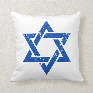 Estrella azul del Grunge de David Cojín Decorativo