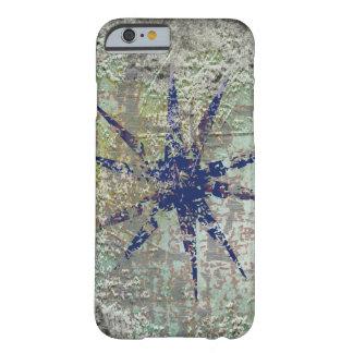 estrella azul del grunge funda de iPhone 6 barely there