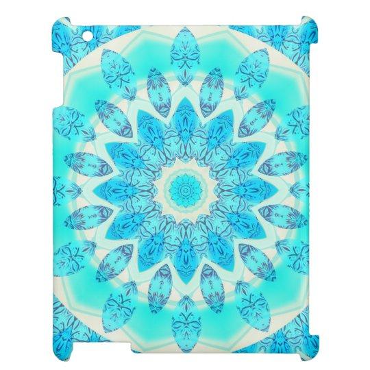 Estrella azul del hielo, mandala abstracta de la