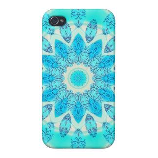 Estrella azul del hielo, mandala abstracta de la iPhone 4/4S carcasa
