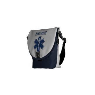 Estrella azul del paramédico de la vida bolsa de mensajería