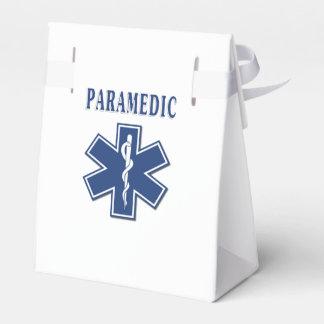 Estrella azul del paramédico de la vida caja para regalo de boda