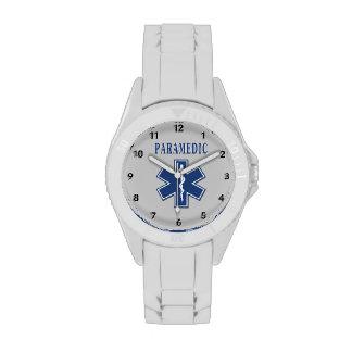 Estrella azul del paramédico de la vida relojes