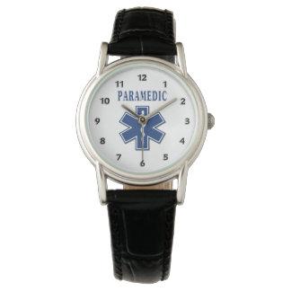 Estrella azul del paramédico de la vida relojes de mano