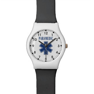Estrella azul del paramédico de la vida reloj