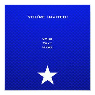 """Estrella azul invitación 5.25"""" x 5.25"""""""