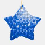 Estrella azul marino del ornamento de las tejas de