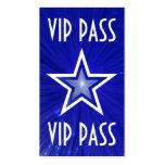 "Estrella azul marino ""parte posterior del blanco d tarjeta de visita"