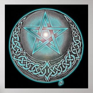 Estrella azul impresiones