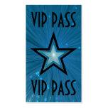 """Estrella azul """"parte posterior del negro de la tar plantillas de tarjetas personales"""