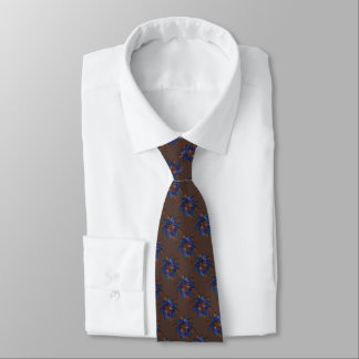 Estrella azul púrpura del moho de Brown del modelo Corbatas Personalizadas