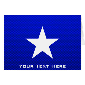 Estrella azul tarjeta de felicitación