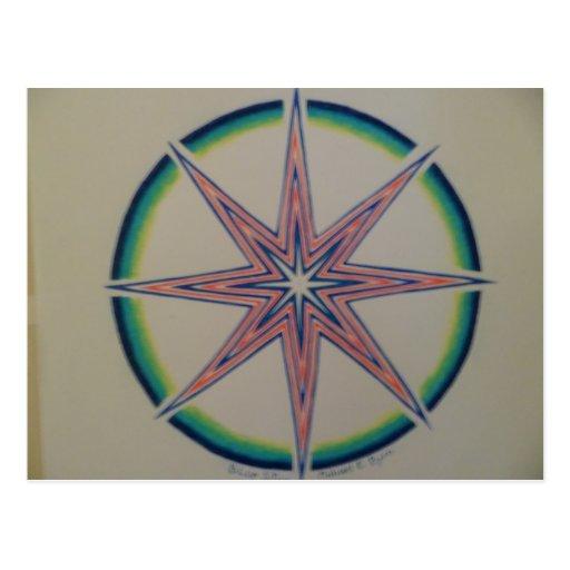 estrella azul postal