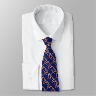 Estrella azul y anaranjada de cualquier color del corbata personalizada