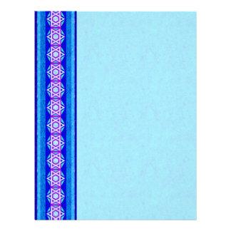 Estrella azul y púrpura del papel con membrete de membrete