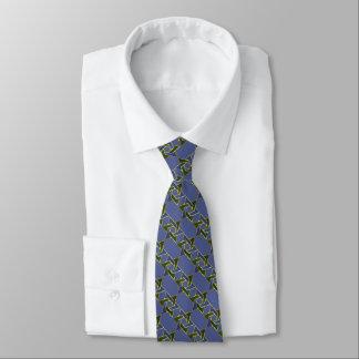 Estrella azul y verde de cualquier color del corbatas