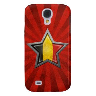Estrella belga de la bandera con los rayos de la l funda para galaxy s4