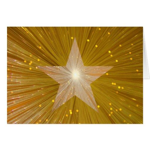 "Estrella ""bien del oro hecha!"" tarjeta de felicita"