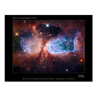 Estrella bipolar que forma la nebulosa de postal