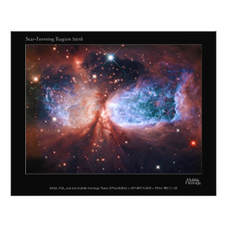 Estrella bipolar que forma la nebulosa de Sharples Fotografía