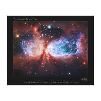 Estrella bipolar que forma la nebulosa de Sharples Lienzo Envuelto Para Galerias