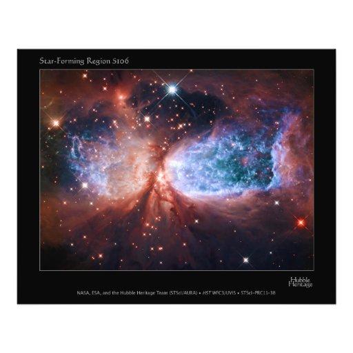 Estrella bipolar que forma la nebulosa de Sharples Arte Fotográfico