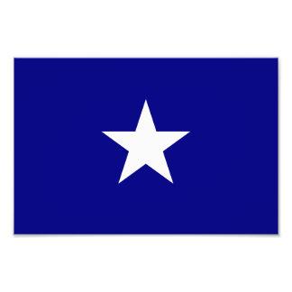 Estrella blanca de la bandera azul de Bonnie Cojinete