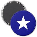Estrella blanca de la bandera azul de Bonnie Imán Redondo 7 Cm