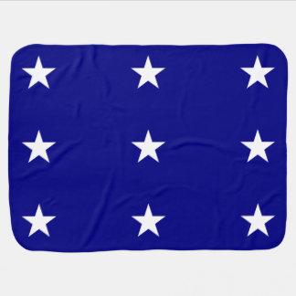 Estrella blanca de la bandera azul de Bonnie Mantitas Para Bebé