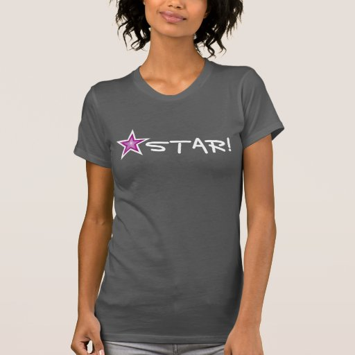 ¡ESTRELLA blanca de la estrella rosada! camiseta
