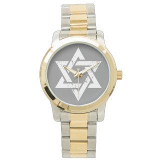 Estrella blanca del Grunge de David Relojes De Pulsera