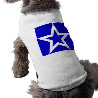 Estrella blanca en el azul - camiseta/camiseta del playera sin mangas para perro