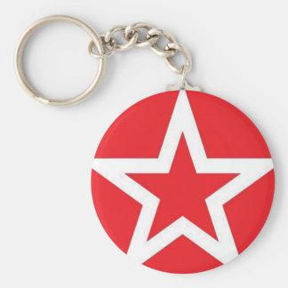 Estrella blanca en el rojo - llavero
