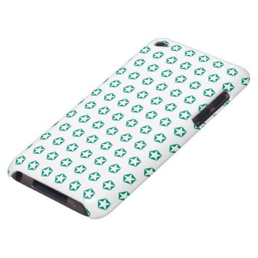 Estrella blanca en modelo esmeralda Case-Mate iPod touch protectores