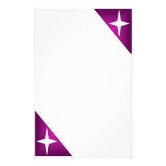 Estrella blanca en púrpura papeleria