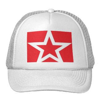 Estrella blanca en Red Hat/casquillo Gorras