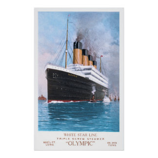 Estrella blanca olímpica póster