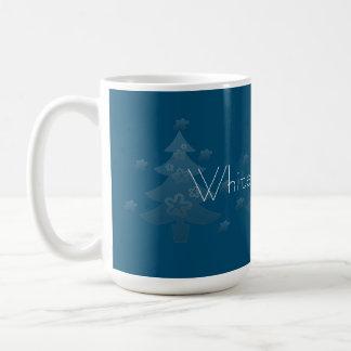 Estrella blanca soñadora de la plata del árbol de taza básica blanca